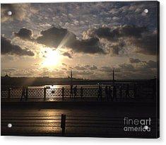 Sunset Over Istanbul Turkey Acrylic Print by John Telfer