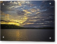 Acrylic Print featuring the photograph Sunset Over Kerr Lake by Ben Shields