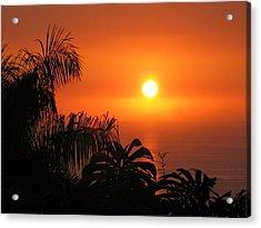 Sunset Over Kona Hawaii Acrylic Print by Sabine Edrissi