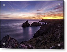 Sunset Over Kynance Cove Acrylic Print