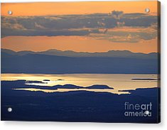 Sunset Over Lake Champlain Acrylic Print