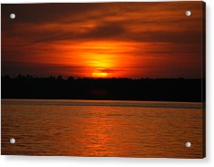 Sunset Over Lake Martin Acrylic Print by Donald Williams