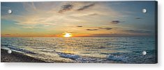 Sunset Over Lake Michigan, Benzie Acrylic Print by Panoramic Images