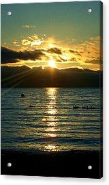 Sunset Over Lake Tahoe Acrylic Print by Ellen Heaverlo