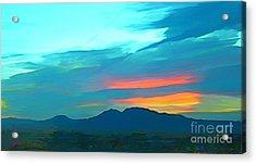 Sunset Over Las Vegas Hills Acrylic Print by John Malone
