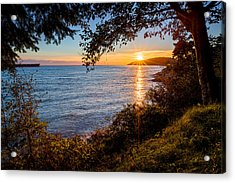 Sunset Over Lighthouse Park Acrylic Print