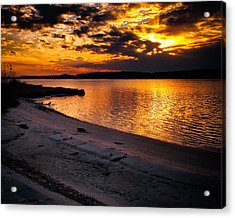 Sunset Over Little Assawoman Bay Acrylic Print