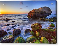 Sunset Over Long Island Sound Acrylic Print