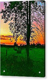 Sunset Over M-33 Acrylic Print by Daniel Thompson
