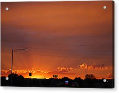Acrylic Print featuring the photograph Sunset Over Madison by Ramona Whiteaker