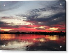 Acrylic Print featuring the photograph Sunset Over Mission Bay  by Christy Pooschke