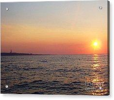 Acrylic Print featuring the photograph Sunset Over Montauk by John Telfer