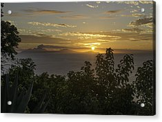 Sunset Over Montseratt Acrylic Print
