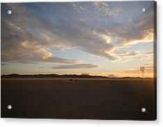 Acrylic Print featuring the photograph Sunset Over Namibia by Riana Van Staden