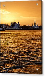 Sunset Over New Orleans Acrylic Print by Patricia Sanders