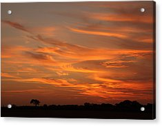 Sunset Over North Norfolk Acrylic Print