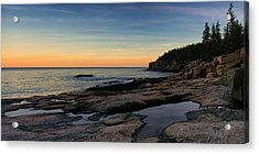 Sunset Over Otter Cliffs Acrylic Print