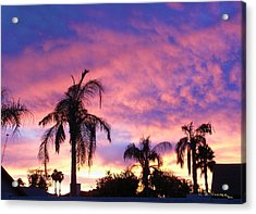 Sunset Over Palms Acrylic Print