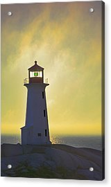 Sunset Over Peggys Cove Lighthouse Acrylic Print by Thomas Kitchin & Victoria Hurst