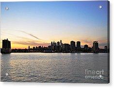 Sunset Over Philadelphia Acrylic Print