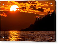 Sunset Over Point Atkinson Lighthouse Acrylic Print