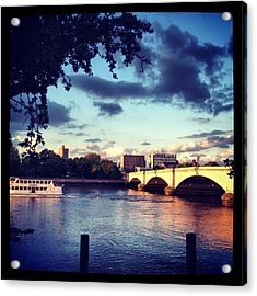 Sunset Over Putney Bridge Acrylic Print by Maeve O Connell