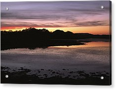 Sunset Over Quanah Parker Lake Acrylic Print