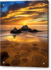 Sunset Over Sand Art Acrylic Print