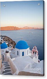 Sunset Over Santorini - Greece Acrylic Print
