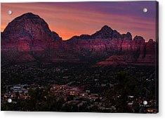 Sunset Over Sedona Az Acrylic Print