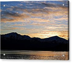 Sunset Over Skagway Ak Acrylic Print