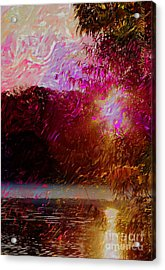 Sunset Over Soddy Acrylic Print by Steven Lebron Langston