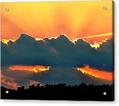 Sunset Over Southern Ohio Acrylic Print