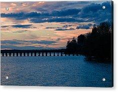 Sunset Over Squalicum Bay Acrylic Print
