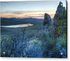 Acrylic Print featuring the photograph Sunset Over Sunflower Reservoir by Jenessa Rahn
