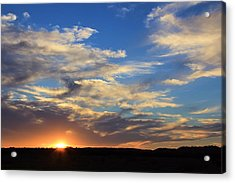 Sunset Over Texas Acrylic Print