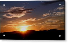 Acrylic Print featuring the photograph Sunset Over The Blue Ridge by Candice Trimble
