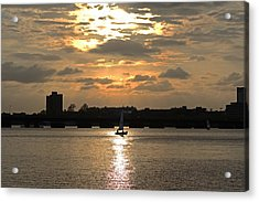 Sunset Over The Charles River Acrylic Print by Toby McGuire