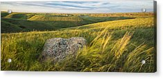 Sunset Over The Coulees And Buttes Of Acrylic Print