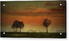 Sunset Over The Country Acrylic Print