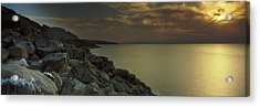 Sunset Over The Dead Sea, Arabah, Jordan Acrylic Print by Panoramic Images