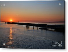 Sunset Over The English Channel Acrylic Print