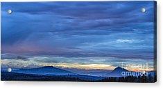 Sunset Over The European Alps Acrylic Print by Bernd Laeschke