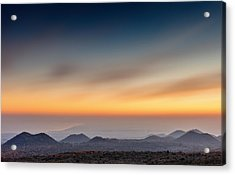 Sunset Over The Gulf Acrylic Print by Alfio Finocchiaro
