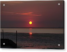 Sunset Over The Hampshire Coast Acrylic Print by Rod Johnson