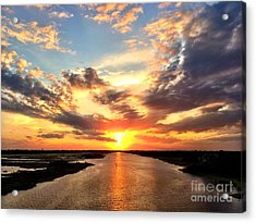 Sunset Over The Icw Acrylic Print by Shelia Kempf