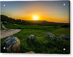 Sunset Over The Judean Hills Acrylic Print