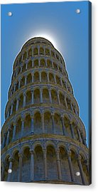 Sunset Over The Leaning Tower Acrylic Print by Rita Mueller