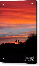 Sunset Over The Mountains Acrylic Print by Jay Milo