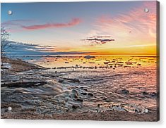 Sunset Over The Mouth Of The Hurricane River Acrylic Print